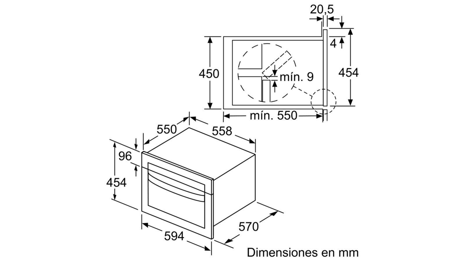 Balay 3cw5178a0 horno horno el ctrico 44 l antracita for Hornos empotrados electricos balay