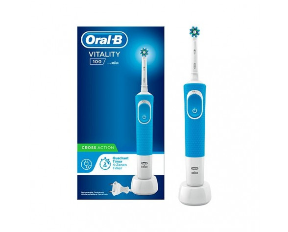 Oral-B Vitality 100 CrossAction Adulto Cepillo dental oscilante Blanco