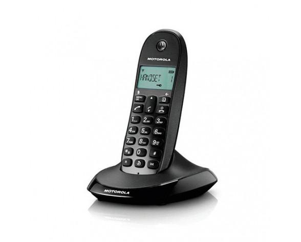 Motorola C1001L Teléfono DECT Negro Identificador de llamadas