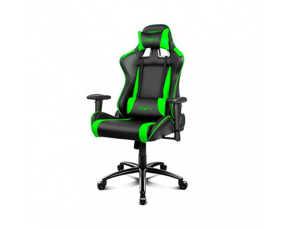 DRIFT DR150BG silla para videojuegos Silla para videojuegos universal Asiento acolchado Negro, Verde