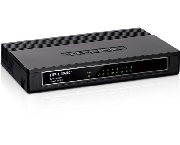 TP-LINK TL-SG1008D switch No administrado Gigabit Ethernet (10/100/1000) Negro