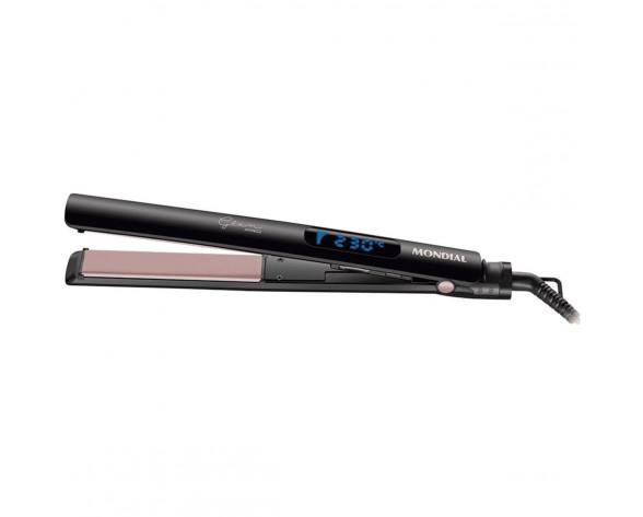 Mondial P23 Utensilio de peinado Plancha de pelo Caliente Negro 30 W