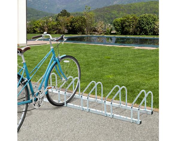 Aparcamiento HOMCOM 5 Bicicletas Acero P