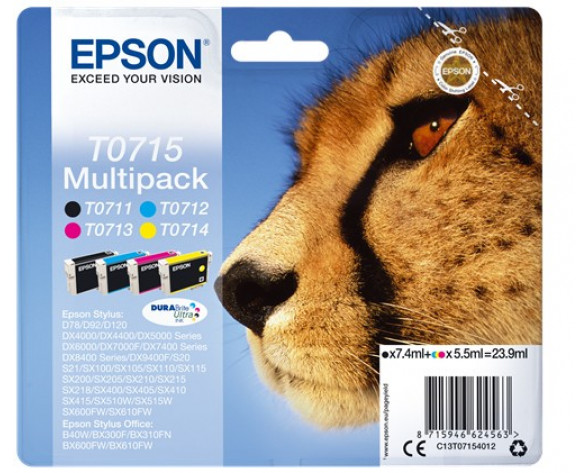 Epson Multipack T0715 4 colores