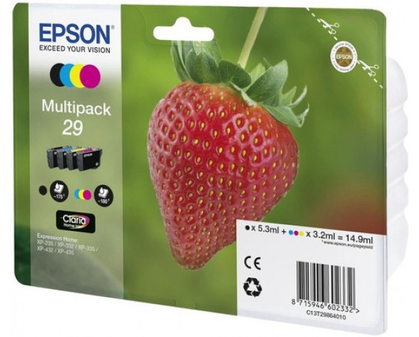 Epson Strawberry 29 CMYK Original Negro, Cian, Magenta, Amarillo Multipack 1 pieza(s)