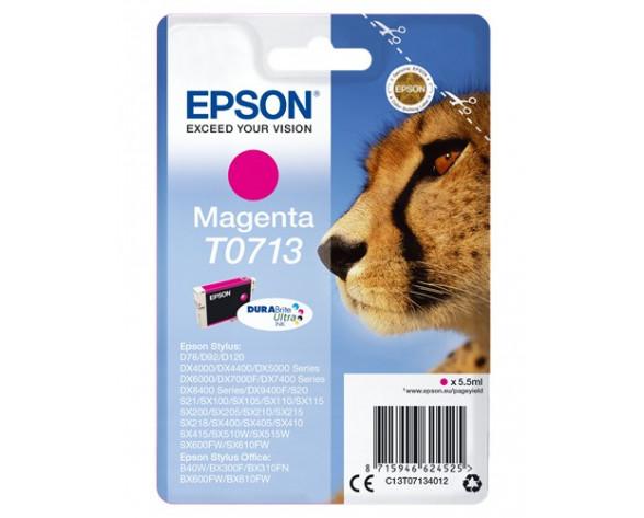 Epson Cheetah T0713 magenta ink cartridge Original