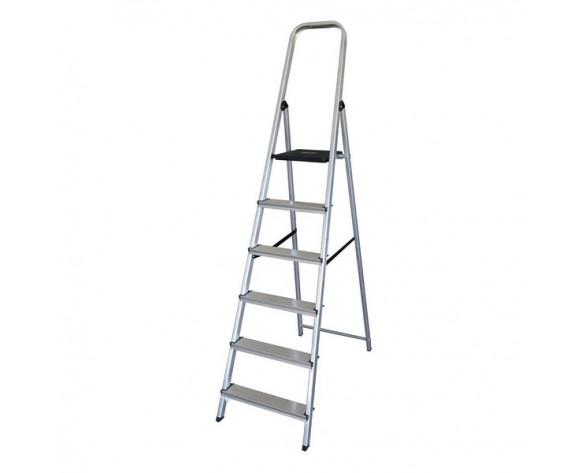 Escalera plegable de 6 peldaños (198 x