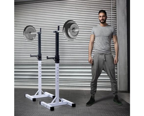 Homcom B1-0014 banco y estante para entrenamiento con pesas Negro, Blanco