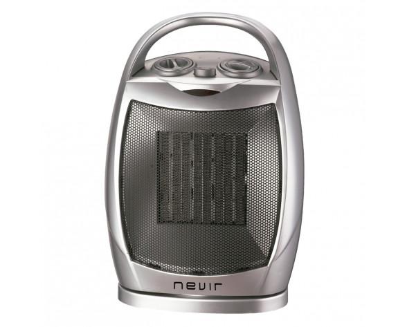 Nevir NVR-9538CR calefactor eléctrico Interior Plata 1500 W