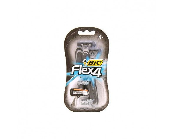 MAQUINILLAS AFEITAR BIC FLEX4 3+1