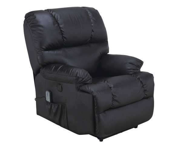 SILLON  JDR RECLIN. MANUAL PU NEGRO