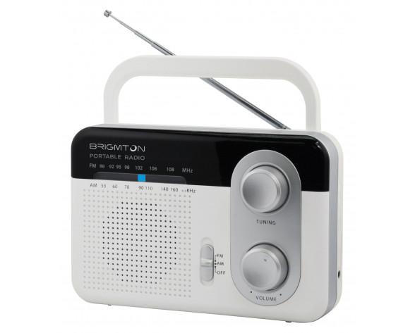 Brigmton BT-250-B Portátil Negro, Gris, Color blanco radio