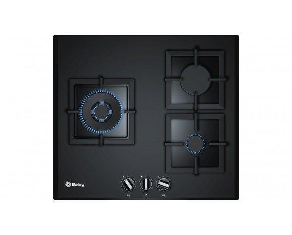 Balay 3ETG663HN hobs Negro Integrado Encimera de gas 3 zona(s)