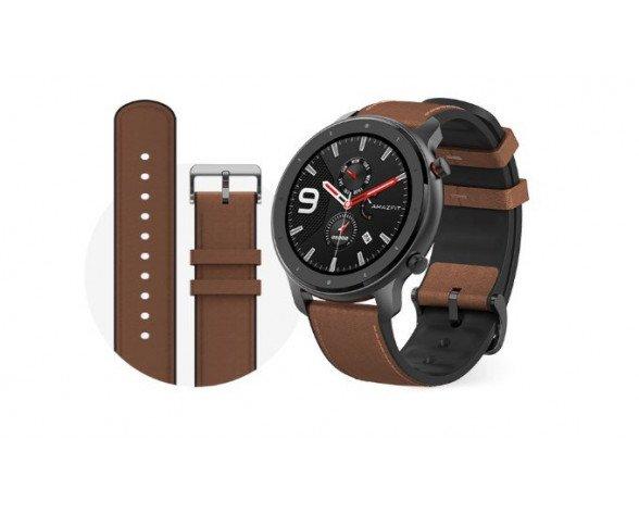 "Amazfit GTR 47mm reloj inteligente AMOLED 3,53 cm (1.39"") Aluminio, Marrón GPS (satélite)"