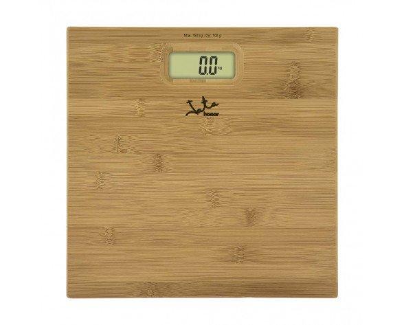 JATA 489 báscula de baño Báscula personal electrónica Rectángulo Bamboo
