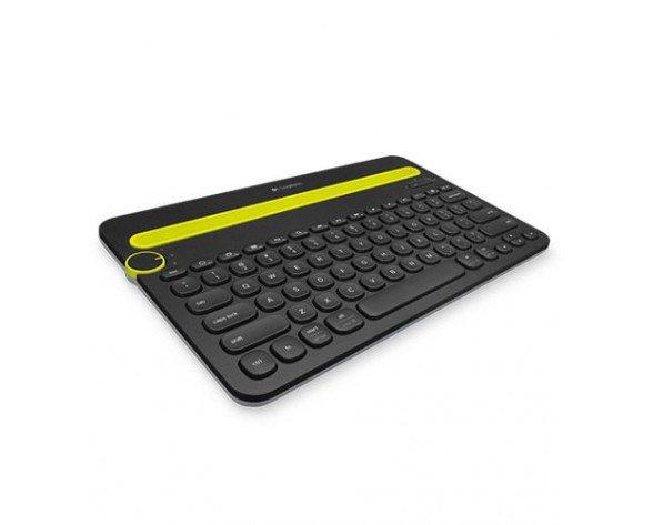 Logitech K480 Bluetooth QWERTY Español Negro, Verde teclado para móvil