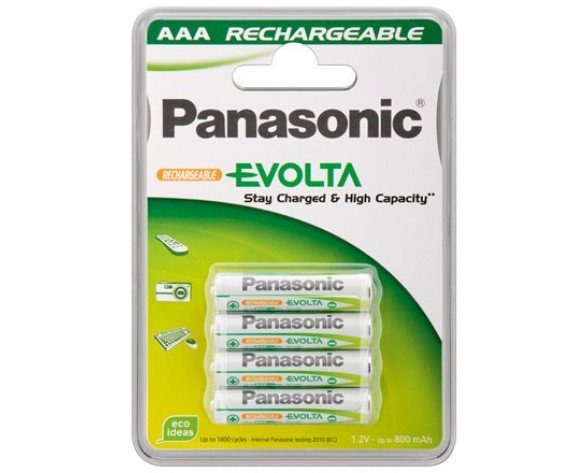 Wentronic AAA 800mAh NiMH 4-BL EVOLTA Panasonic Batería recargable Níquel-metal hidruro (NiMH)