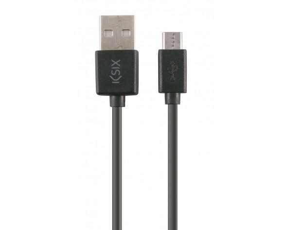 Ksix CABLE DE DATOS Y CARGA USB - MICRO USB 1 METRO PARA SMARTPHONE NEGRO