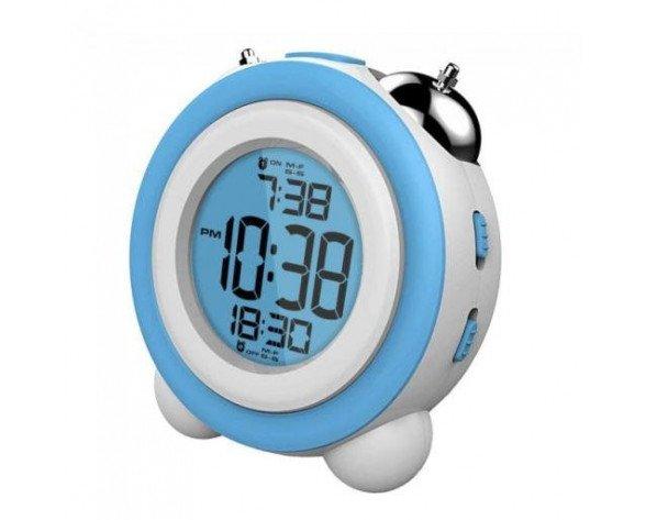 Daewoo DCD-220BL Digital alarm clock Azul, Color blanco despertador