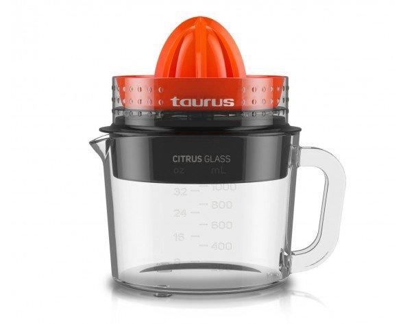 Taurus Citrus Glass prensa de cítricos eléctricos Negro, Rojo, Transparente 1 L 30 W