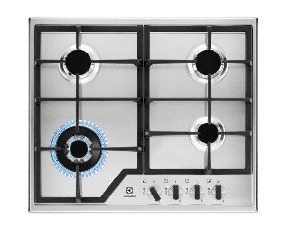 Electrolux KGS6436X hobs Acero inoxidable Built-in (placement) Encimera de gas 4 zona(s)