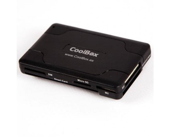 CoolBox CRE-065 USB 2.0 Negro lector de tarjeta