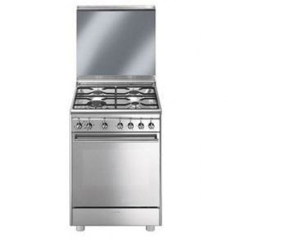 Smeg CX68M8-1 cocina Cocina independiente Acero inoxidable Encimera de gas A