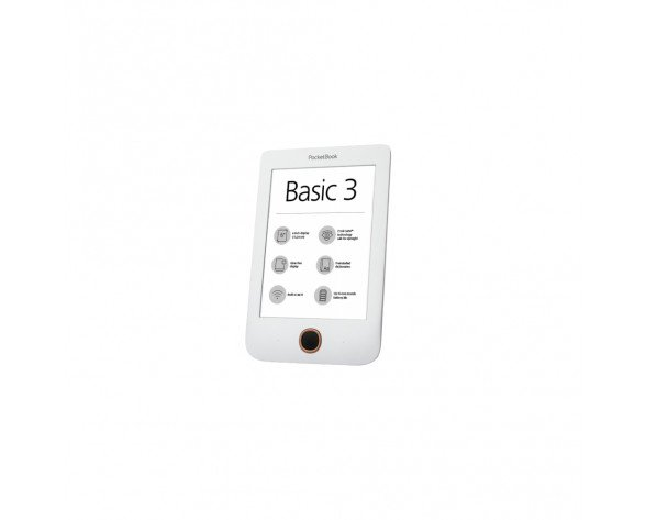 Pocketbook Basic 3 lectore de e-book 8 GB Wifi Negro, Blanco
