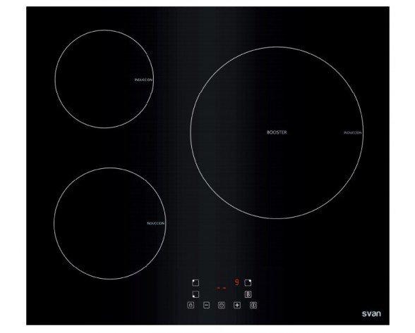 SVAN SVI6391 hobs Negro Built-in (placement) Con placa de inducción 3 zona(s)