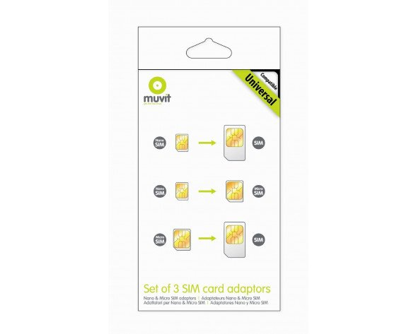 Muvit MUMIC0003 SIM card adapter adaptador para tarjeta de memoria sim / flash