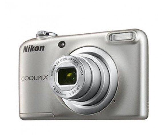"Nikon COOLPIX A10 + Case 16.1MP 1/2.3"" CCD 4608 x 3456Pixeles Plata"