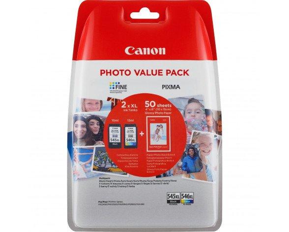 Canon PG-545XL/CL546XL cartucho de tinta 2 pieza(s) Original Alto rendimiento (XL) Negro, Cian, Amarillo, Magenta