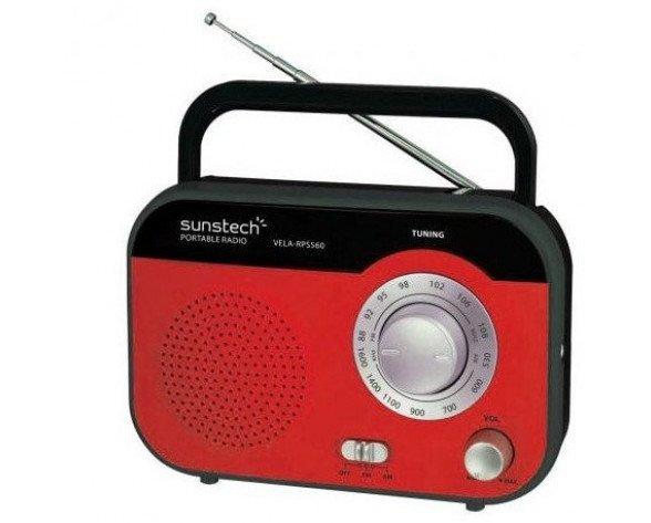 Sunstech RPS560 Portátil Analógica Rojo radio