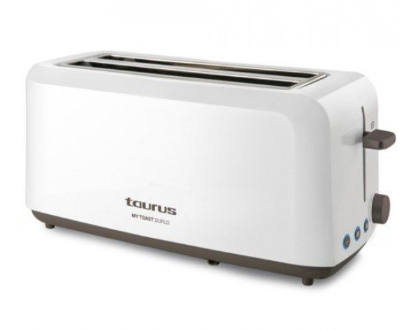 Taurus MyToast Duplo tostadora Blanco 1450 W