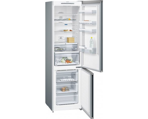 Siemens iQ300 KG39NVI3A nevera y congelador Freestanding (placement) Acero inoxidable 366 L A++
