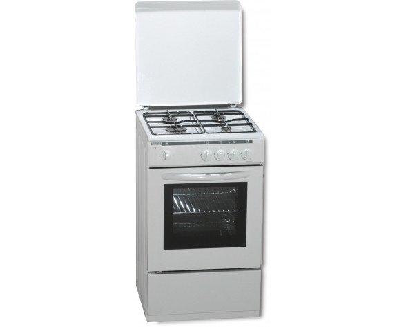 ROMMER VCH 450 Cocina independiente Blanco Encimera de gas