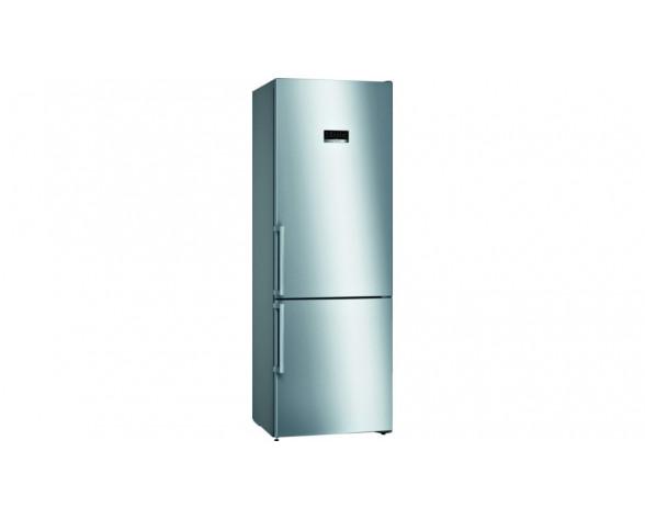 Bosch Serie 4 KGN49XIEP nevera y congelador Independiente 438 L E Acero inoxidable