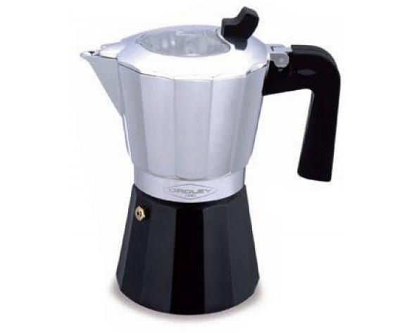 Cafetera Oroley Inducción Aluminio, Negro