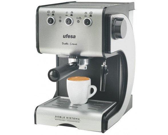 Ufesa CE7141 Espresso machine 1.5L 2tazas Negro, Plata cafetera eléctrica