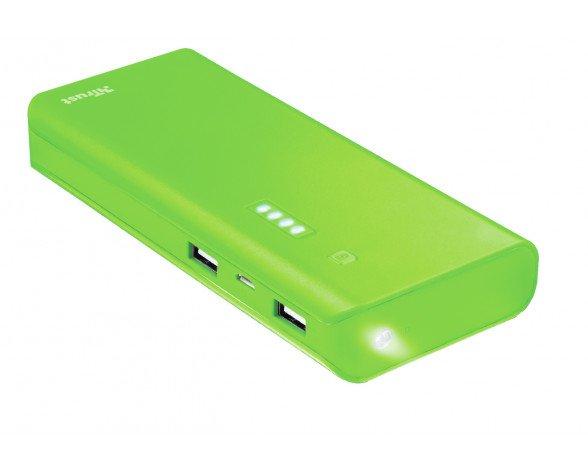 Trust Primo 10000 mAh batería externa Verde Ión de litio