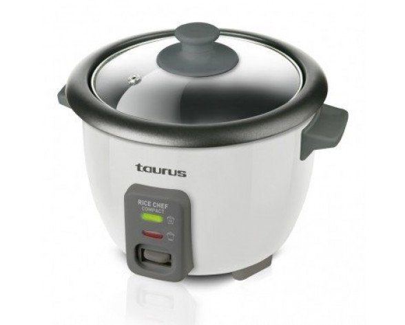 Taurus Rice Chef Compact 0.6L 700W Negro, Gris arrocera