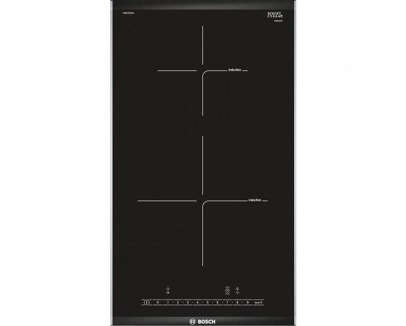 Bosch PIB375FB1E hobs Negro, Acero inoxidable Integrado Con placa de inducción 2 zona(s)