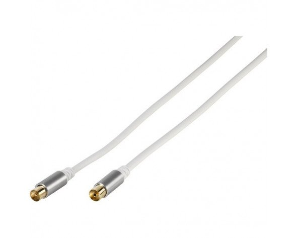 Vivanco 43153 cable coaxial 3 m Blanco
