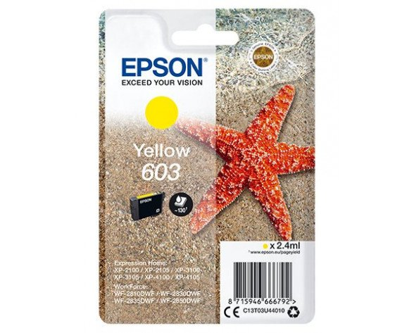 Epson Singlepack Yellow 603 Ink