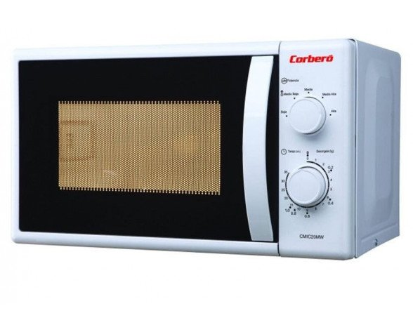 Corbero CMIC20MGW Encimera 20L 700W Color blanco microondas