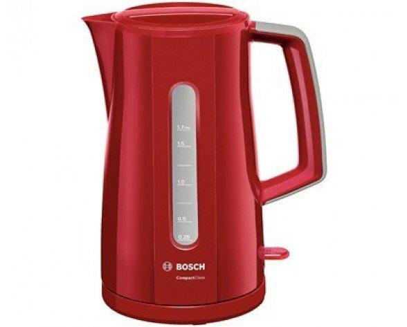 Bosch TWK3A014 tetera eléctrica 1,7 L 2400 W Rojo