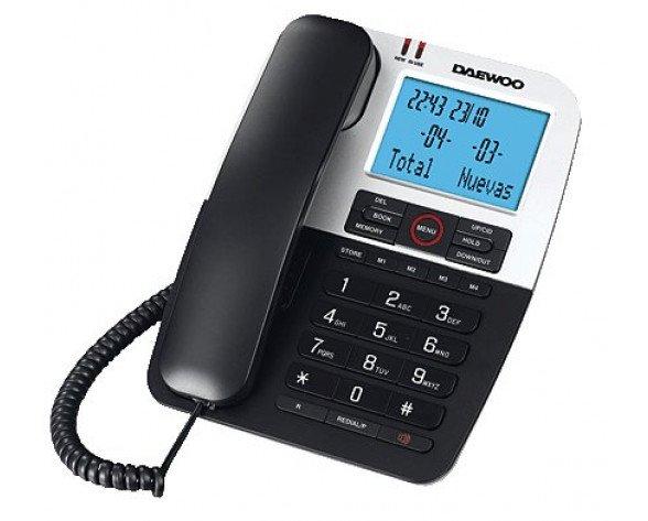 Daewoo DTC 410 Teléfono analógico Negro, Plata teléfono