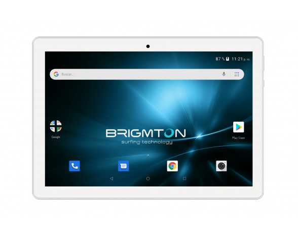 """Brigmton BTPC-1026QC4G-B tablet 4G LTE-TDD & LTE-FDD 32 GB 25,4 cm (10"""") Allwinner 3 GB Wi-Fi 4 (802.11n) Android 9.0 Blanco"""