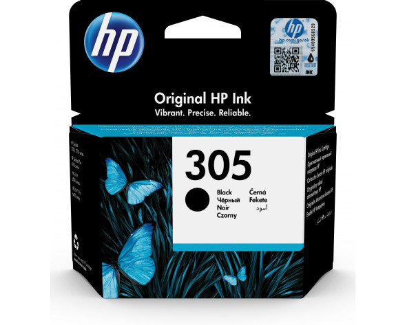 HP Cartucho de tinta Original 305 negro