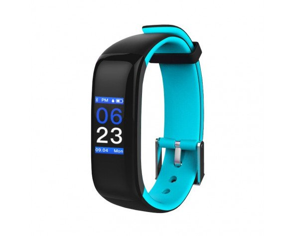 "Brigmton BSPORT-15 Wristband activity tracker 0.96"" OLED Inalámbrico IP67 Negro, Azul"